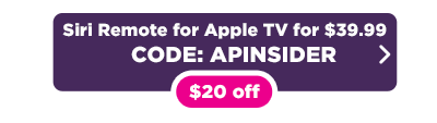 Last-gen Siri remote for Apple TV for $39.99 button