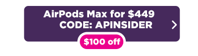 AirPods Max $100 off deal button