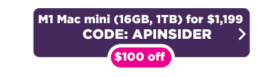 M1 Mac mini $100 of deal button