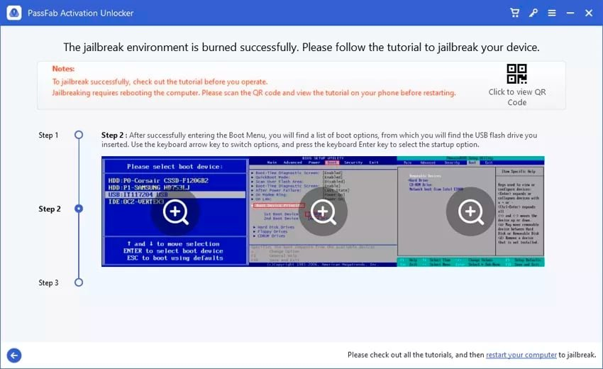 Instructions for processing the jailbreak are provided just before performing it on Windows.