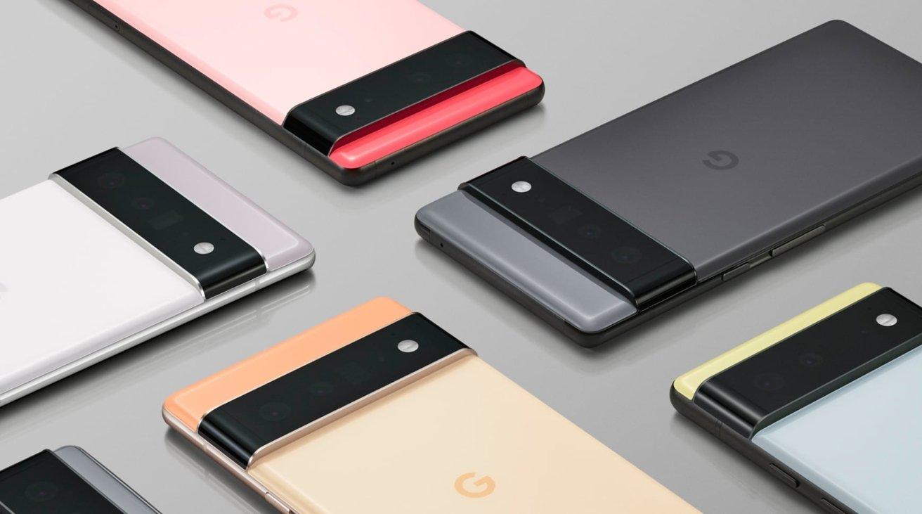 Google's Pixel 6 and Pixel 6 Pro.