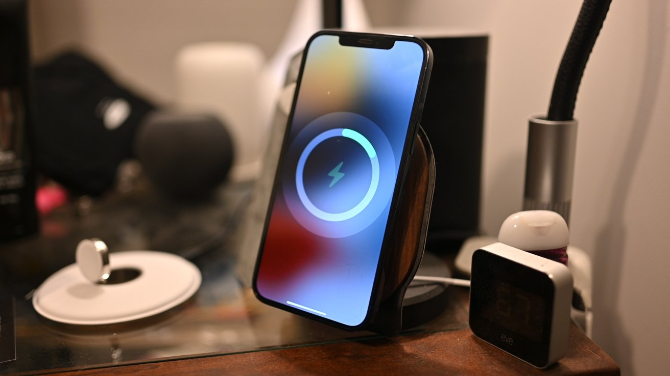 SurfacePad Pro on iPhone 12 bedside