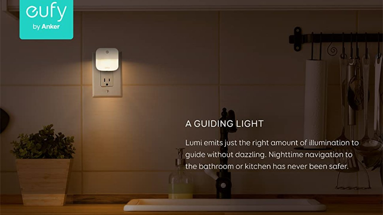 Get $4.50 off a 4-pack of eufy Smart Night Lights