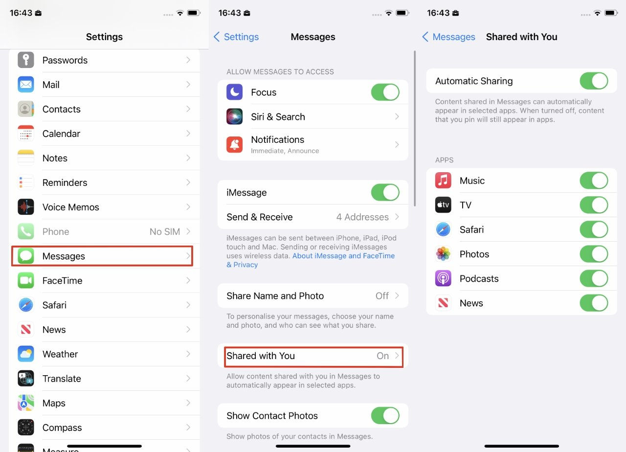 How to Use Shared With You on iOS 15