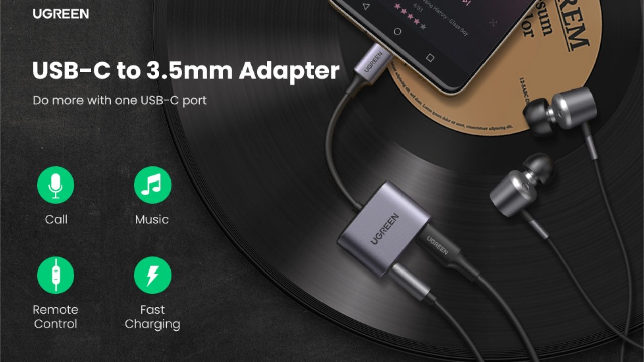 Ugreen USB-C to 3.5mm Adapter 20% off