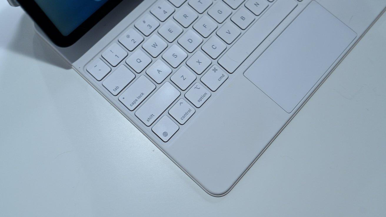 The globe key on the Magic Keyboard