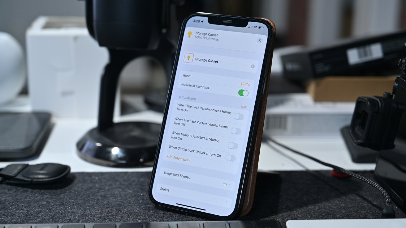 Settings in the Home app