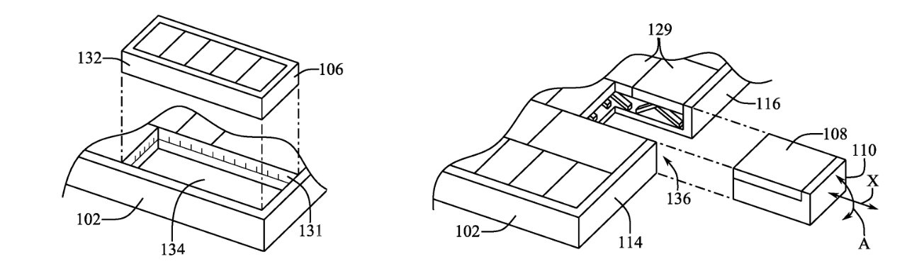 Detail from the patent showing two different ways such a key could be easily removed to be used as a mouse