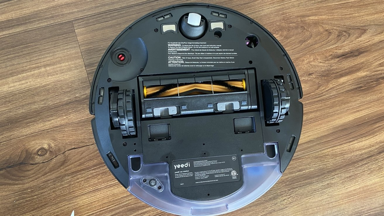 The underside features an array of sensors