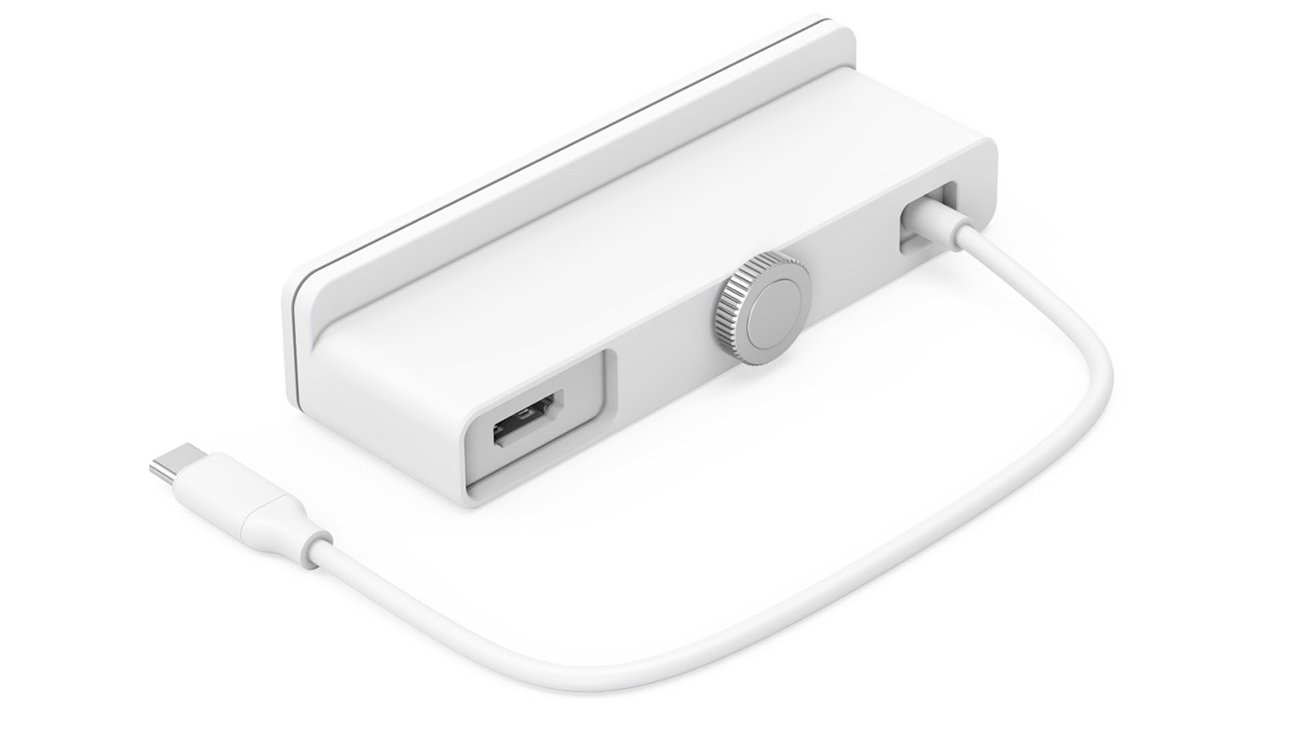 The HyperDrive 6-in-1 Hub provides an additional HDMI slot at the back