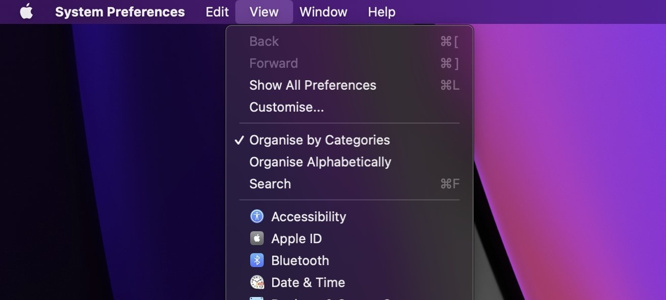 The key bit of the System Preferences menu for this is 'Customize'