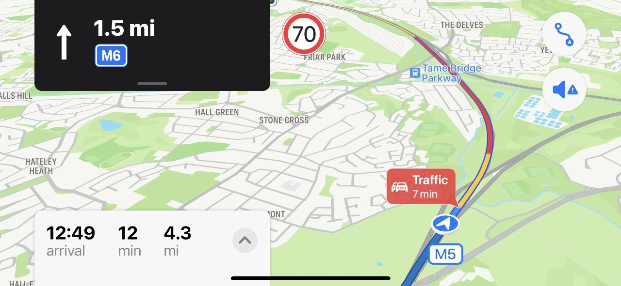 It's a small addition, but very useful - Apple Maps now estimates how long delays will be