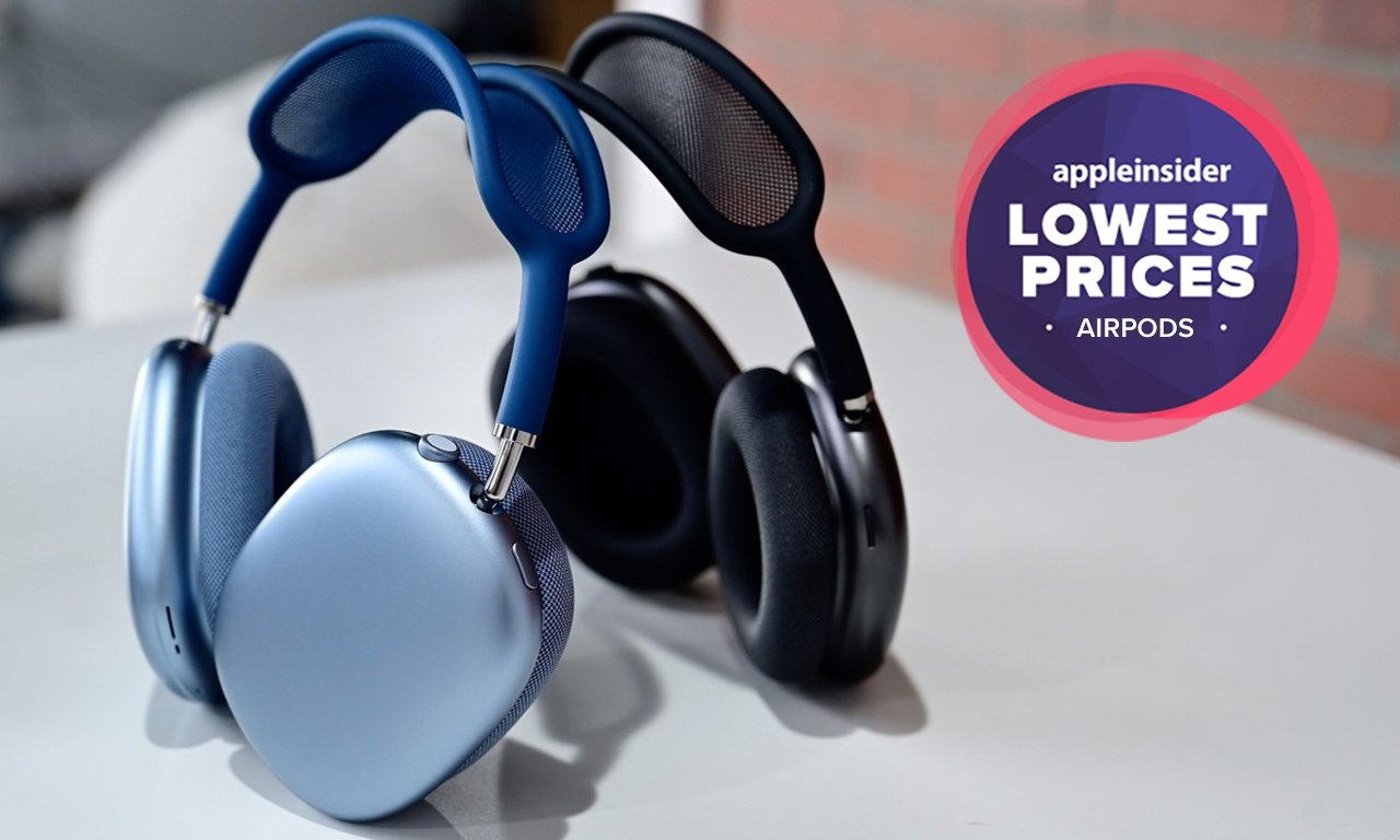 AirPods Max with lowest prices badge
