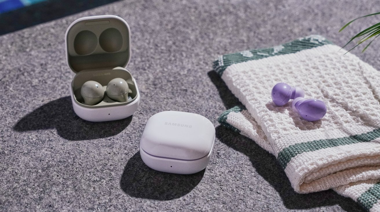 There's water resistance in the Galaxy Buds 2, but not as much as the AirPods Pro.