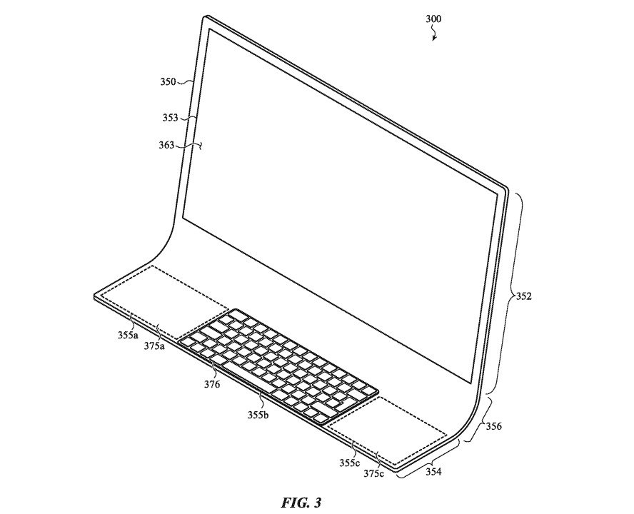The single glass sheet could have a lip used to hold a keyboard.