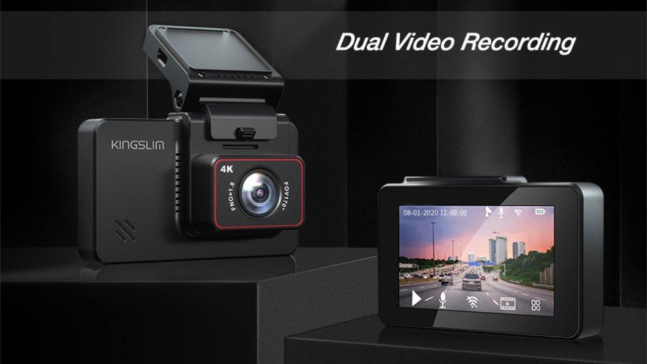 18% off Kingslim D4 4K Dual Dash Cam