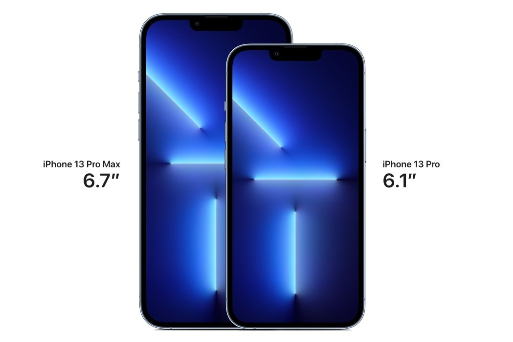 The iPhone 13 Pro and iPhone 13 Pro Max share the same dimensions as the iPhone 12 Pro.