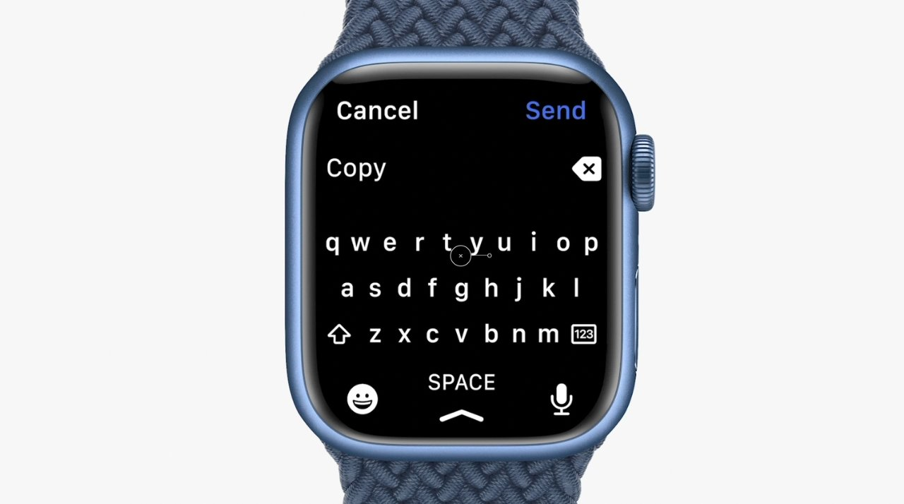 QuickPath typing keyboard on Apple Watch