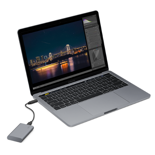 LaCie Mobile SSD Secure in space gray