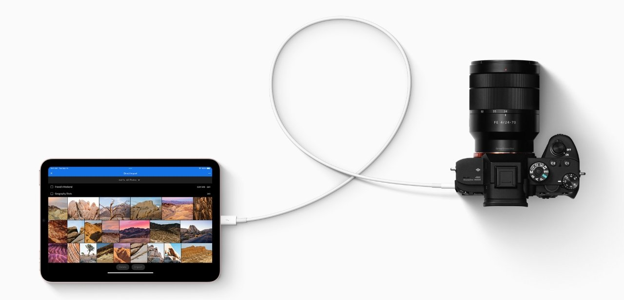 USB-C means iPad mini can now connect to more devices and transfer data faster