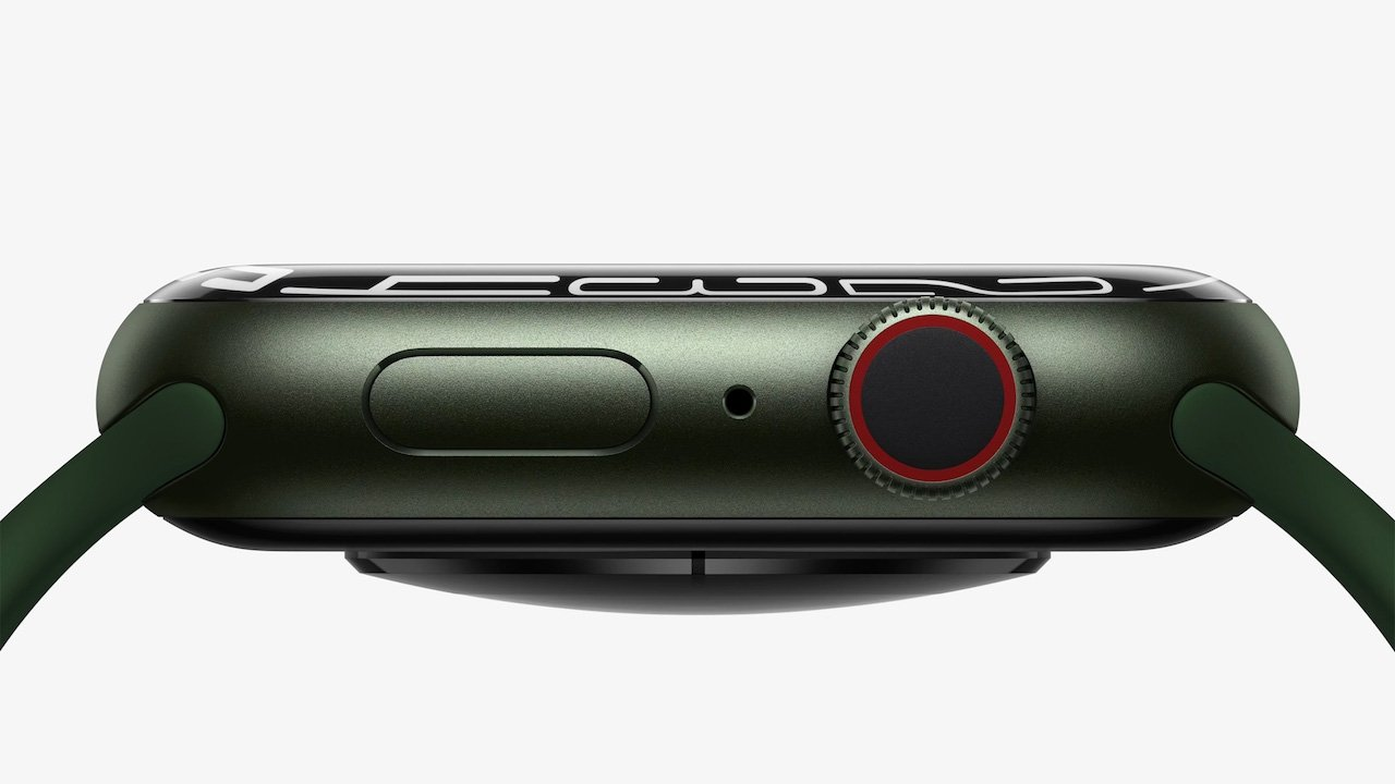 The Apple Watch Series 7 features a larger display with softer curves around the edges.