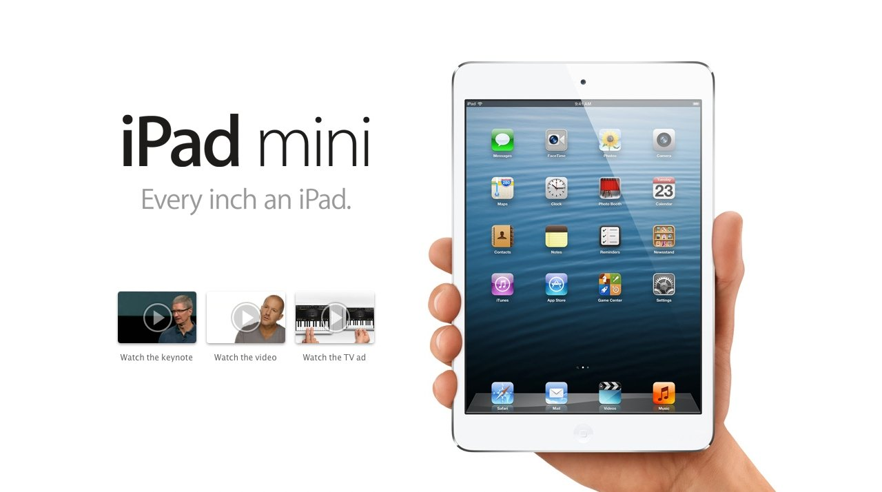 How Apple originally launched the iPad mini in 2012