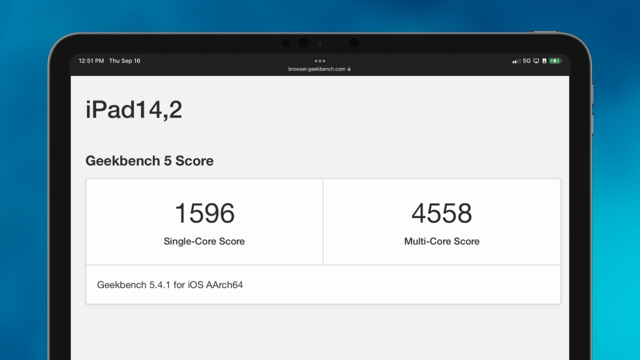 iPad mini slightly slower than iPhone 13 despite same A15 processor