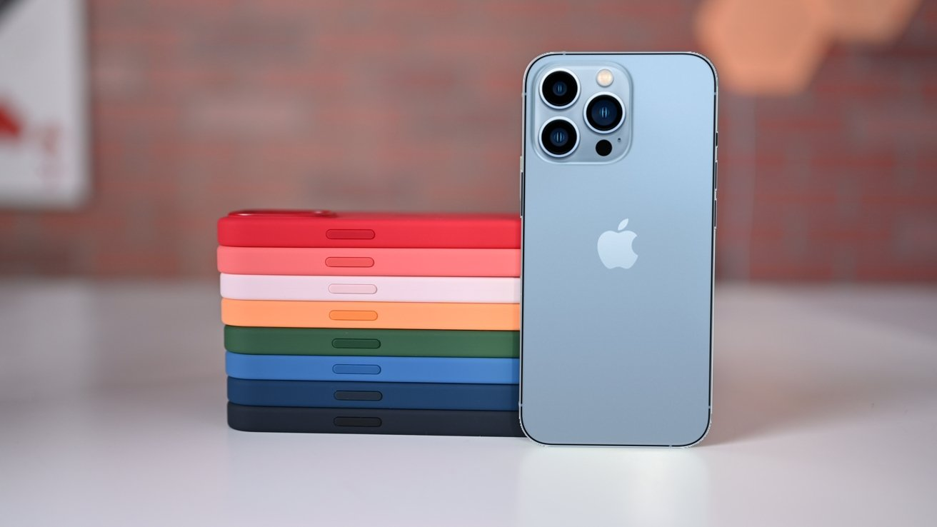 Apple's silicone case for iPhone 13