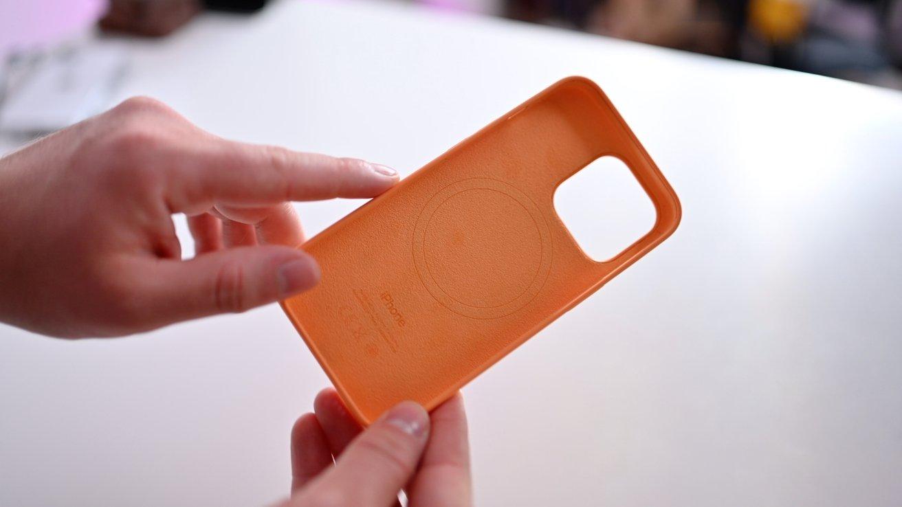 Interior microfiber lining in Apple's silicone case