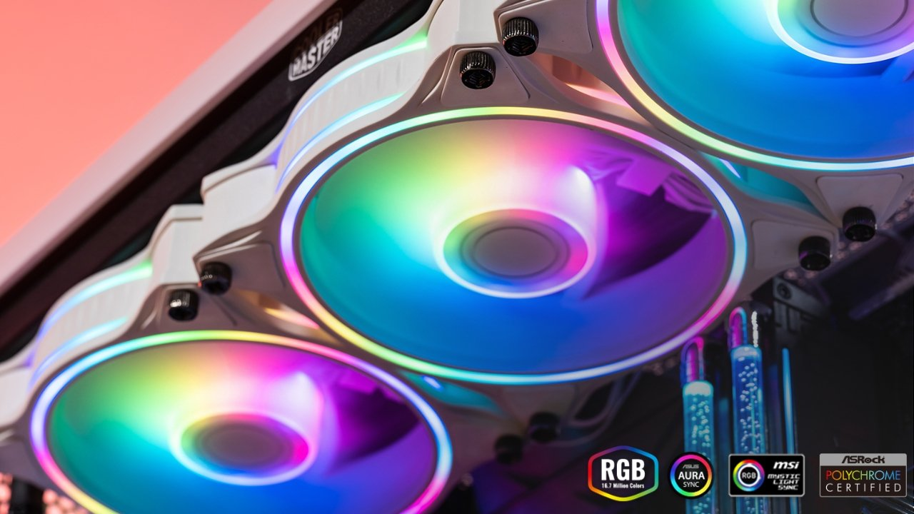 50% off Cooler Master MasterFan MF120 Halo White Edition 120mm Fan