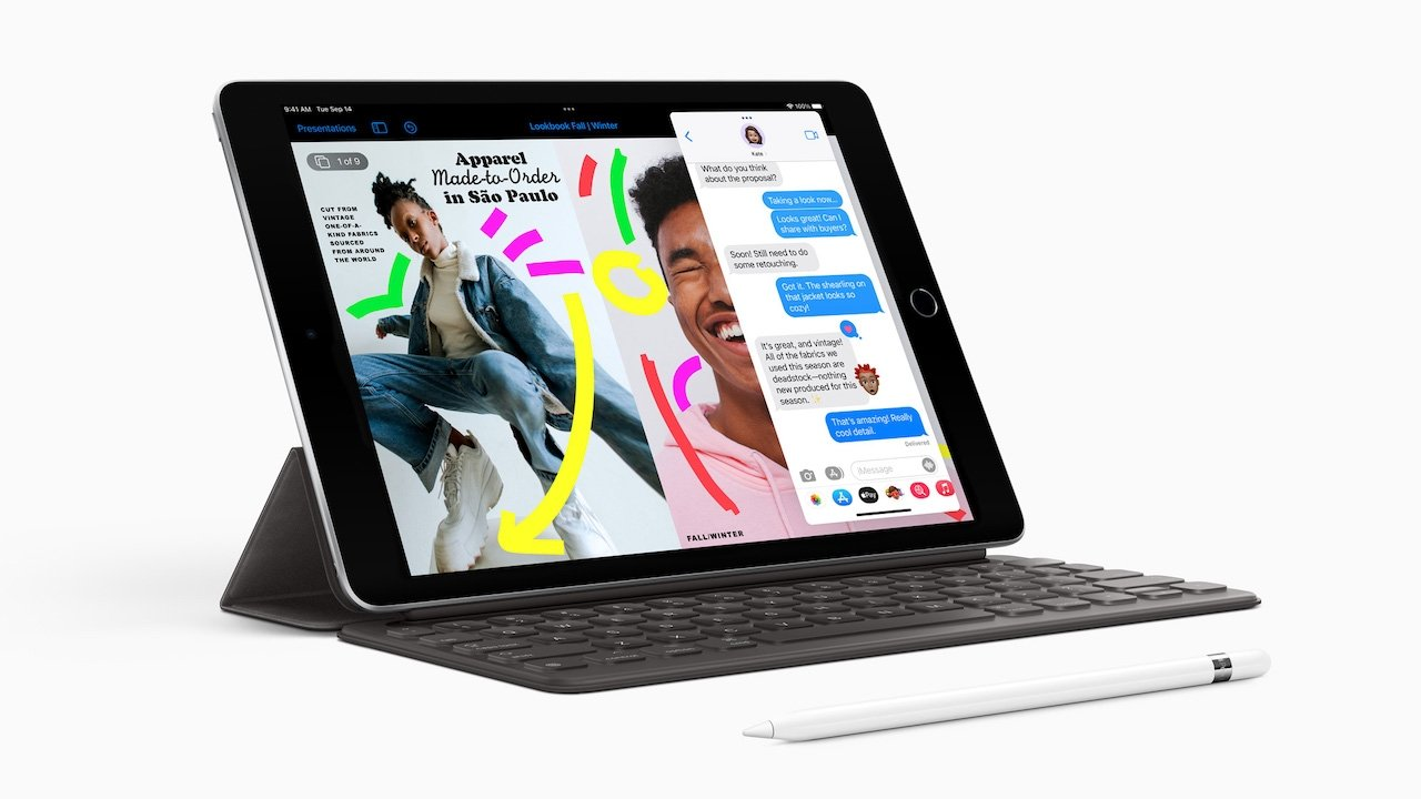 The 10.2-inch iPad sports an A13 Bionic under the hood.