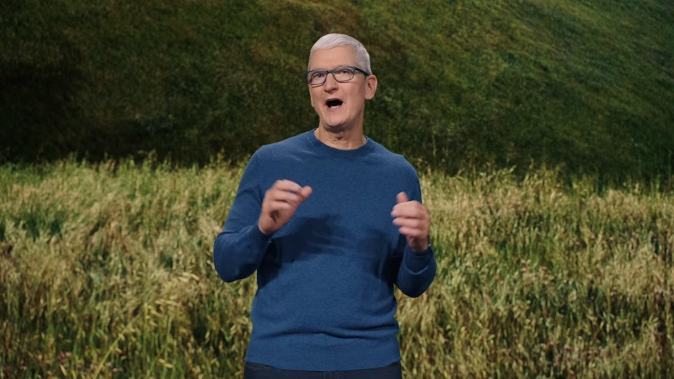 Apple CEO Tim Cook will be on stage during Apple's special event.