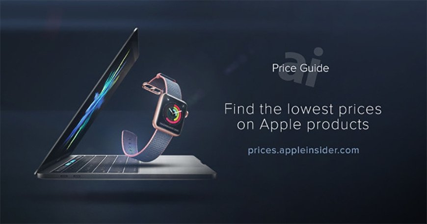 Apple products with AppleInsider Price Guide text