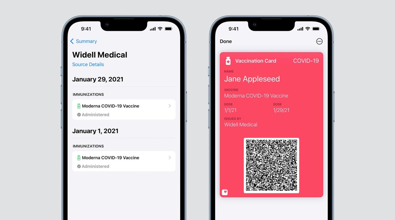 photo of iOS 15.1 will support verifiable COVID vaccination cards in Apple Wallet image