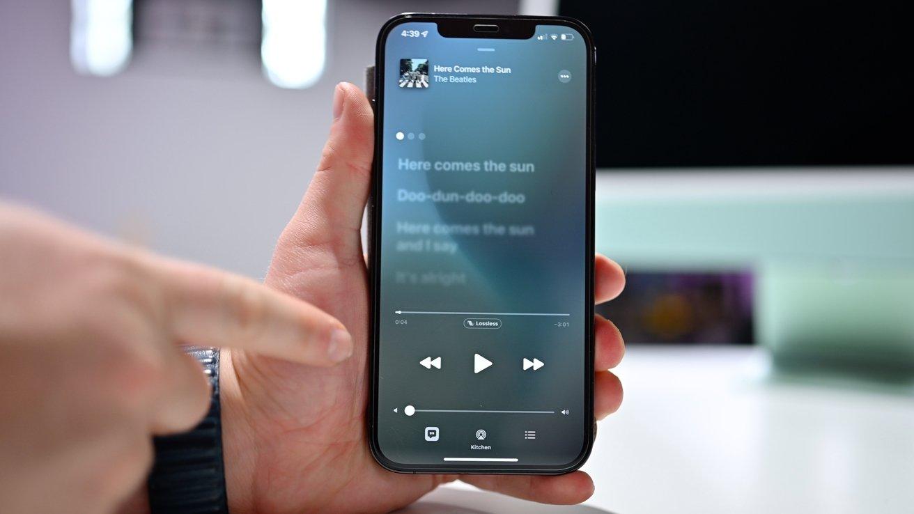 Escuchar audio sin pérdidas en HomePod