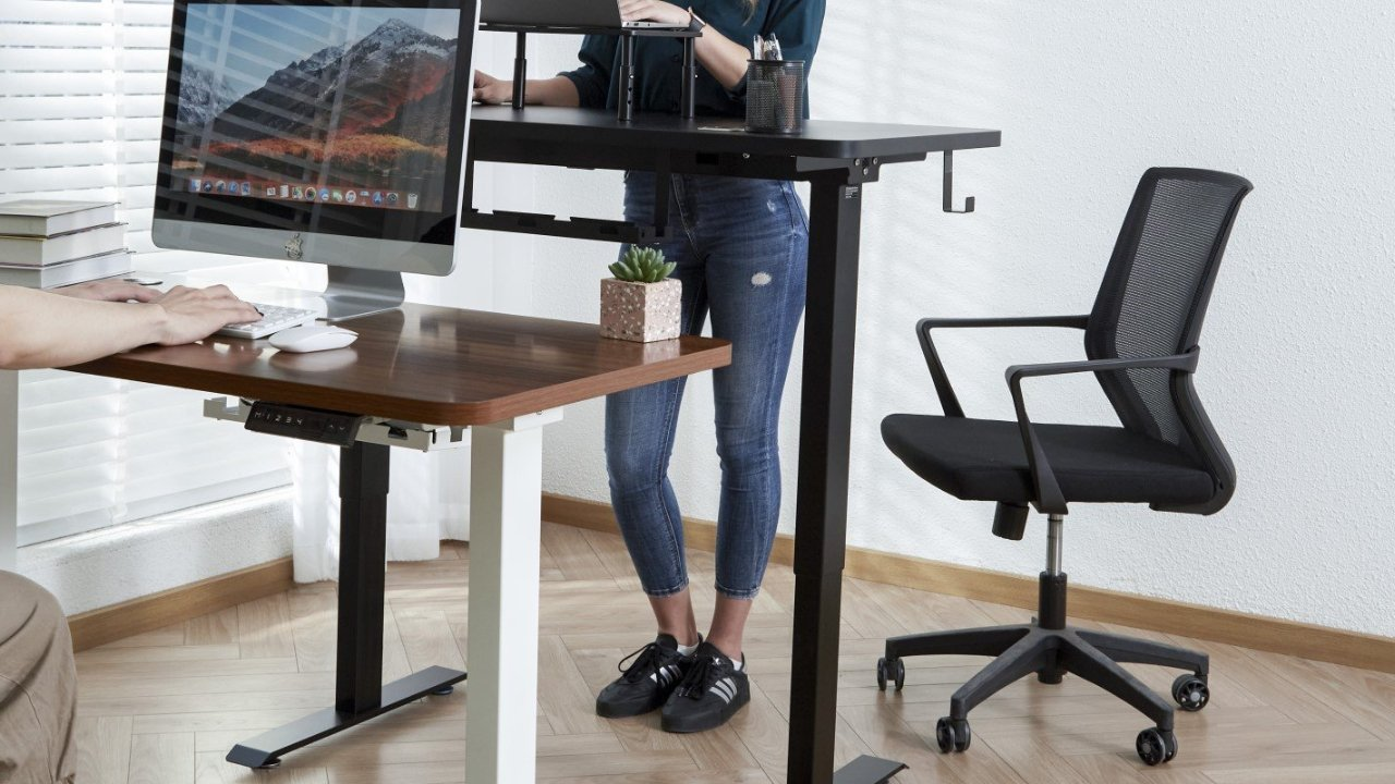 $150 off Woka 48-inch x24-inch Ergonomic Height Adjustable Stand Up Desk Driven by Dual Motors