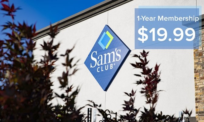 Save over 50% on a Sam's Club membership, now $19.99 plus free food