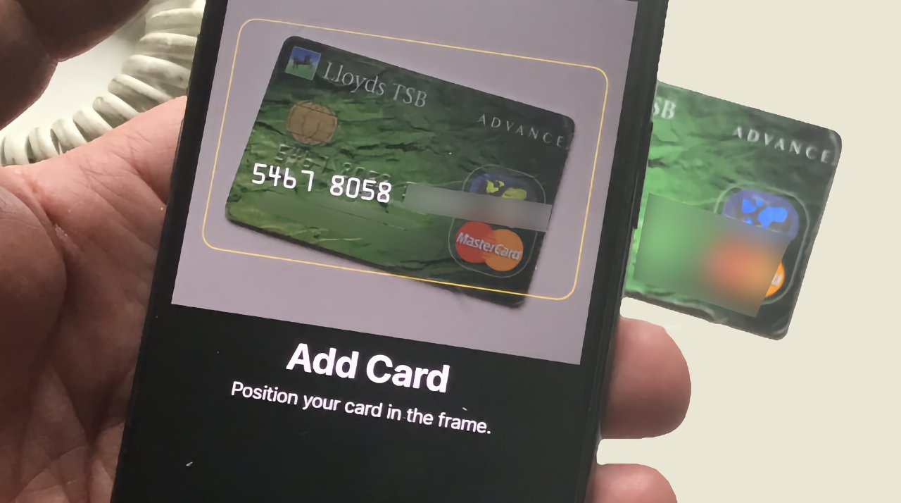 Adding a credit card to Apple Pay