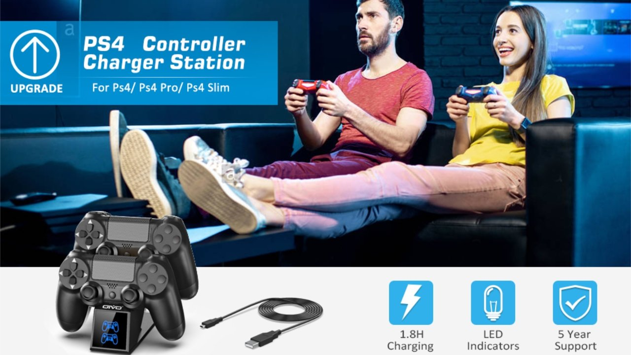 41% off Oivo PS4 Charger USB Charging Dock Station