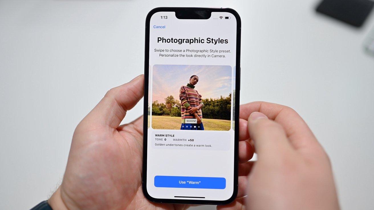 Set photo styles in settings