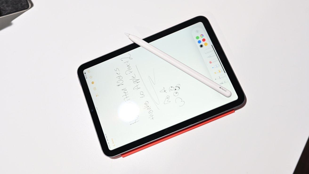 Apple Pencil 2 on iPad mini 6