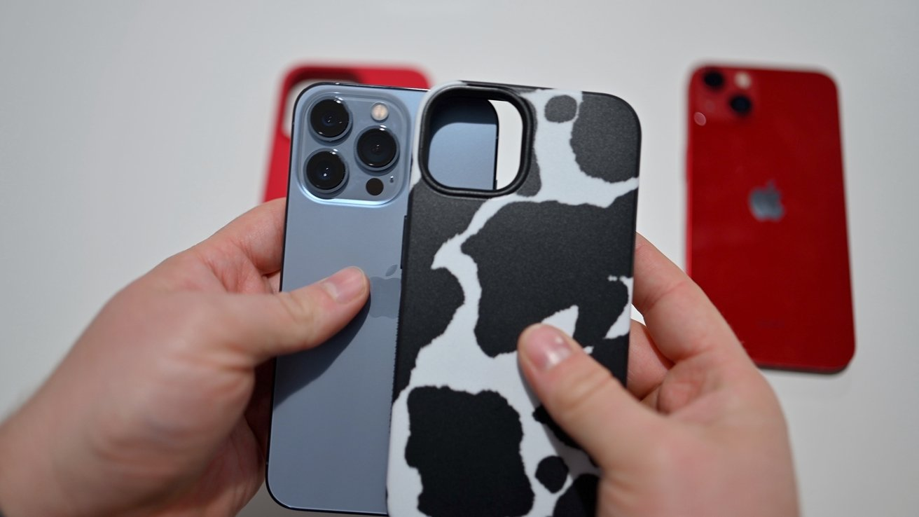 Trying to put an iPhone 13 case on the iPhone 13 Pro