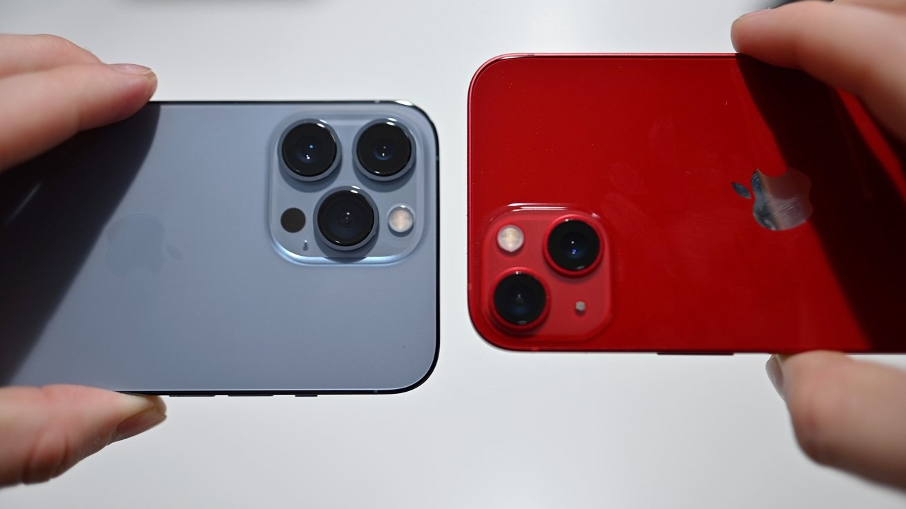 Rear cameras on the latest iPhones