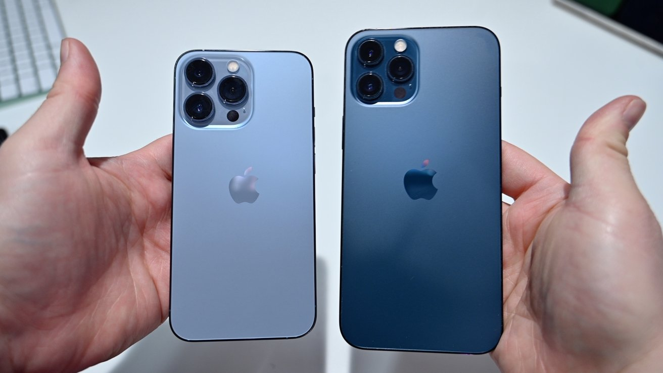 Comparing the Sierra Blue iPhone 13 Pro and Pacific Blue iPhone 12 Pro Max