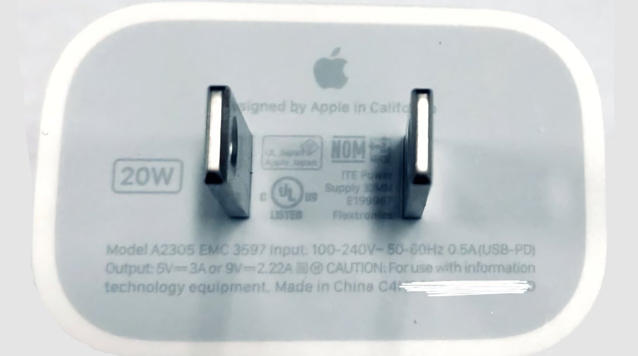 An Apple charger