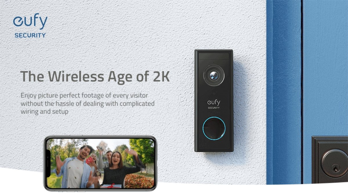$18 off eufy Security Wireless Add-on Video Doorbell with 2K Resolution