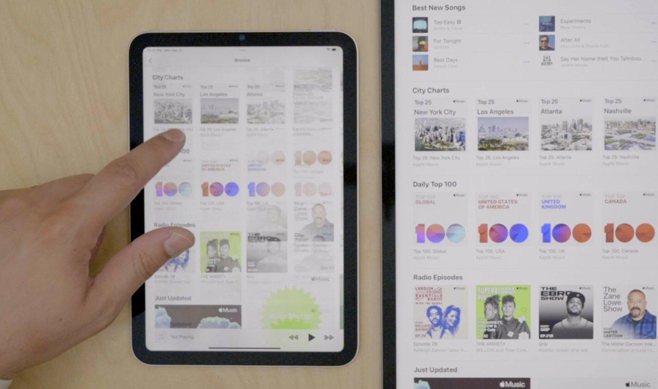 Browse Apple Music on iPad mini