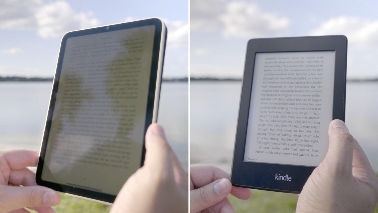 iPad mini next to Kindle Paperwhite