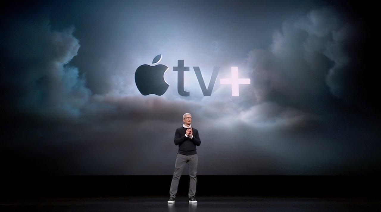 Tim Cook launching Apple TV+