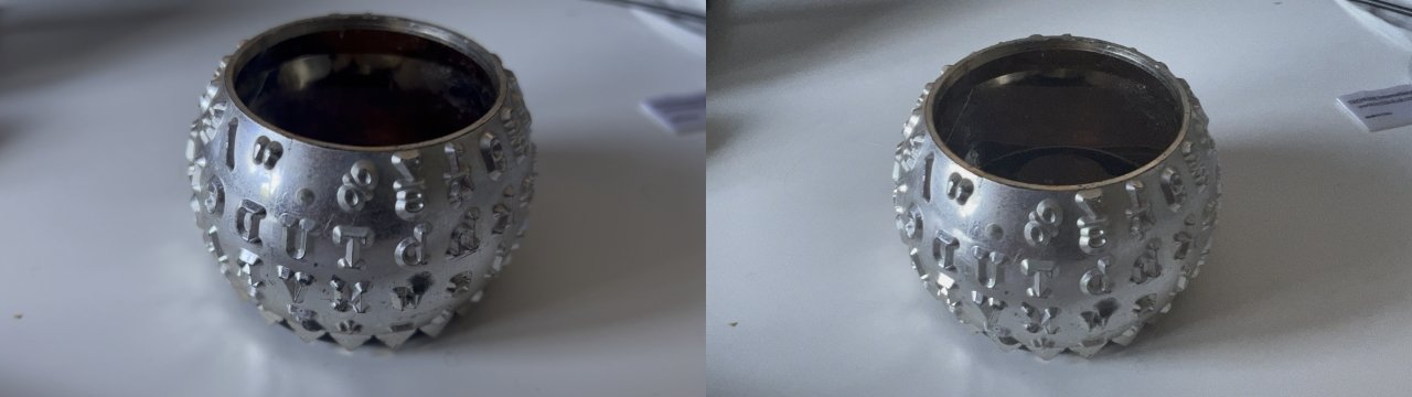 These shots are a single shot in the same video, but switching to a macro lens changes the framing and degrades the image quality.